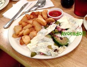 Egg white veggie omelet